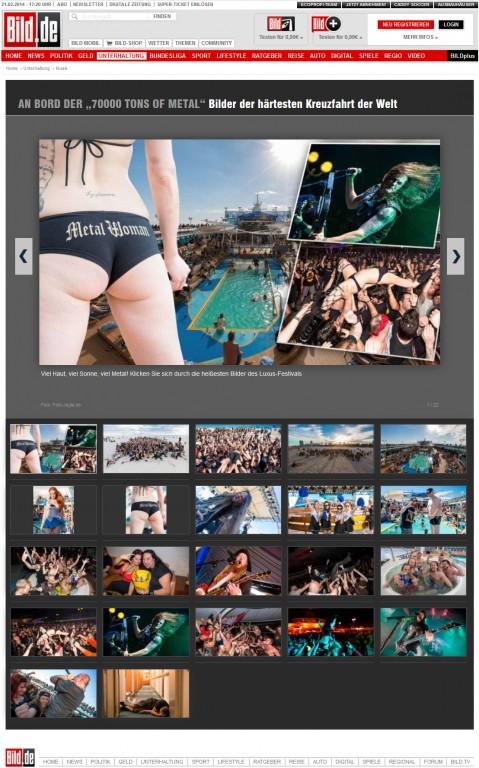 70000 Tons of Metal 2014 Fotos auf Bild.de (Germany) - February 2014 - http://www.bild.de/unterhaltung/musik/heavy-metal/fg-kreuzfahrt-34547300.bild.html
