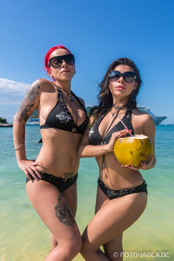 70000 Tons of Metal 2015 ::. Poolgirl Shooting at a beach in Jamaica in front of the Liberty Of The Seas