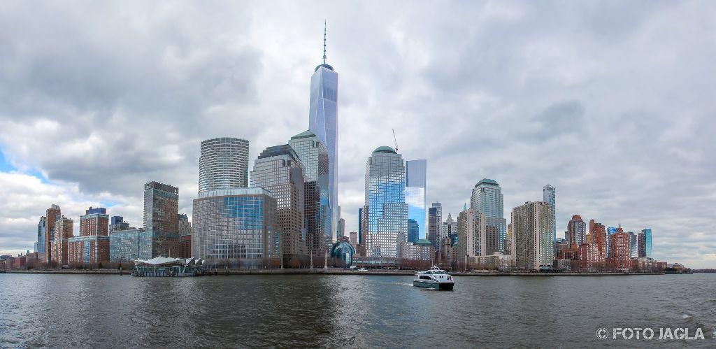 New York Sicht vom Hudson River Januar 2017