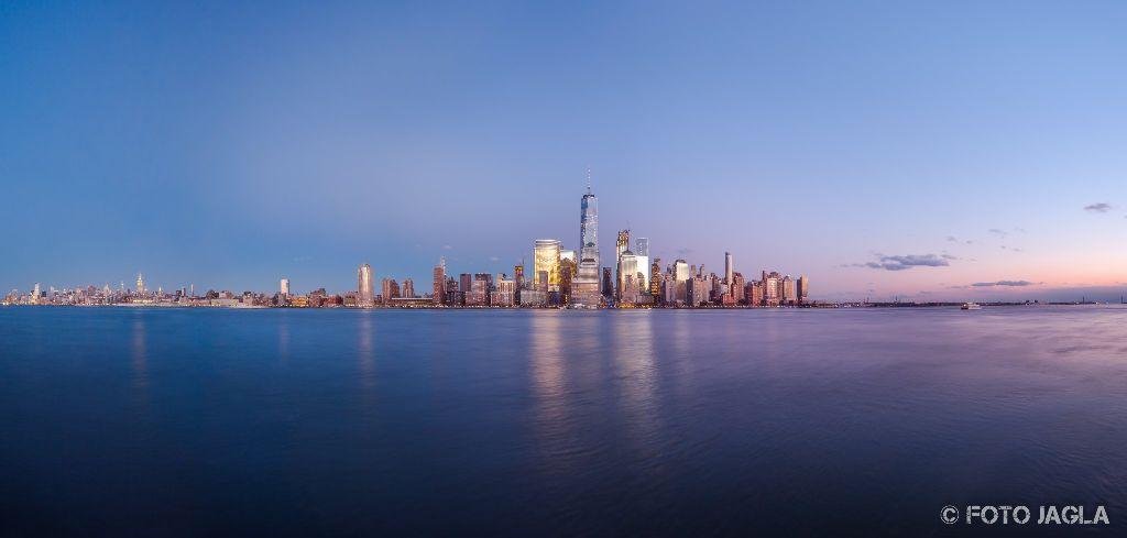 New York Sicht von Jersey City Januar 2017