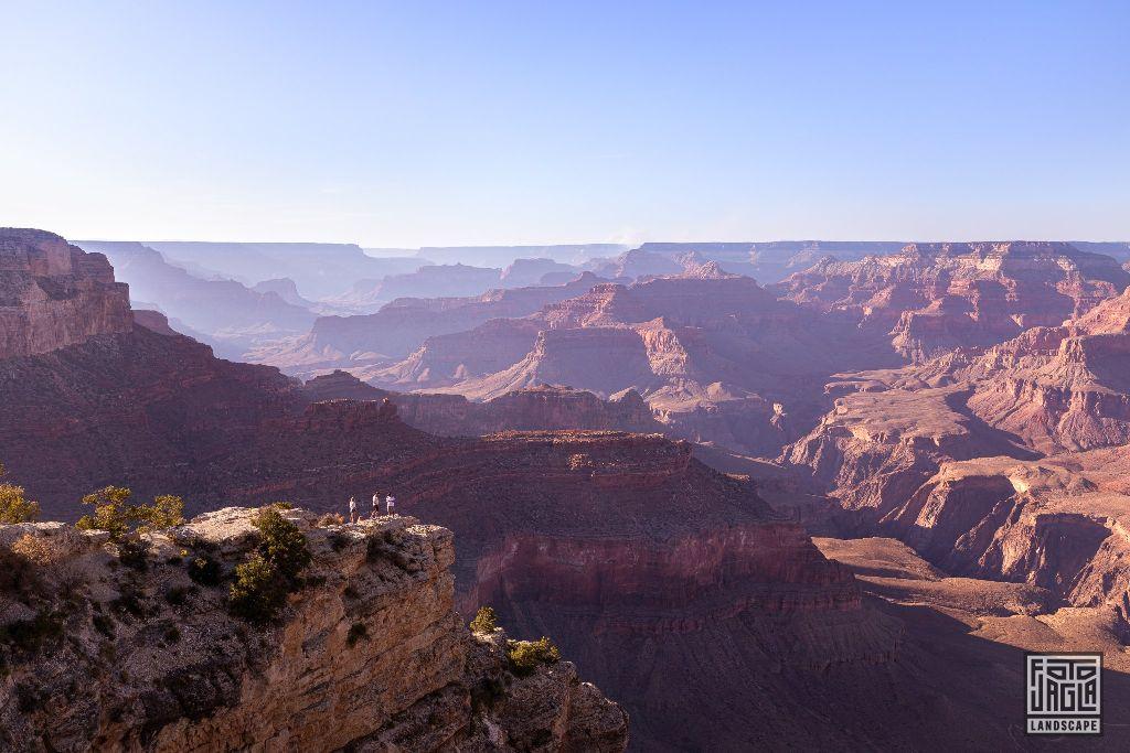 Rim Trail at the Yavapai Point in Grand Canyon Village Arizona, USA 2019