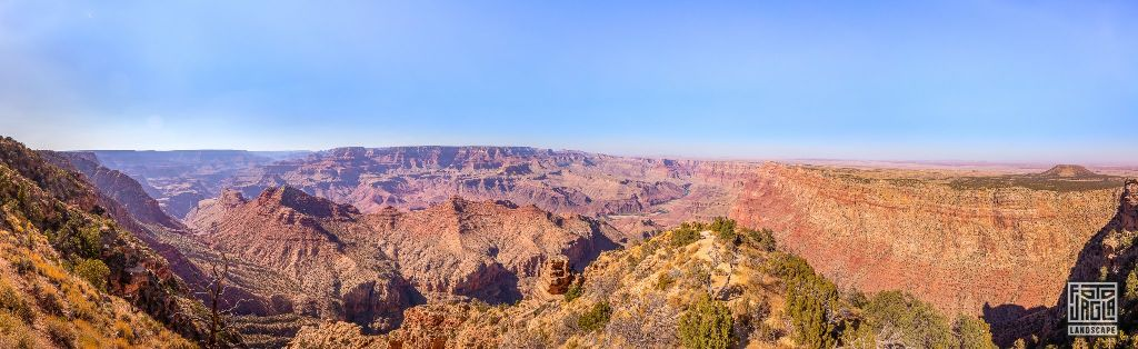 View from the Desert View Watchtower in Grand Canyon Village Arizona, USA 2019