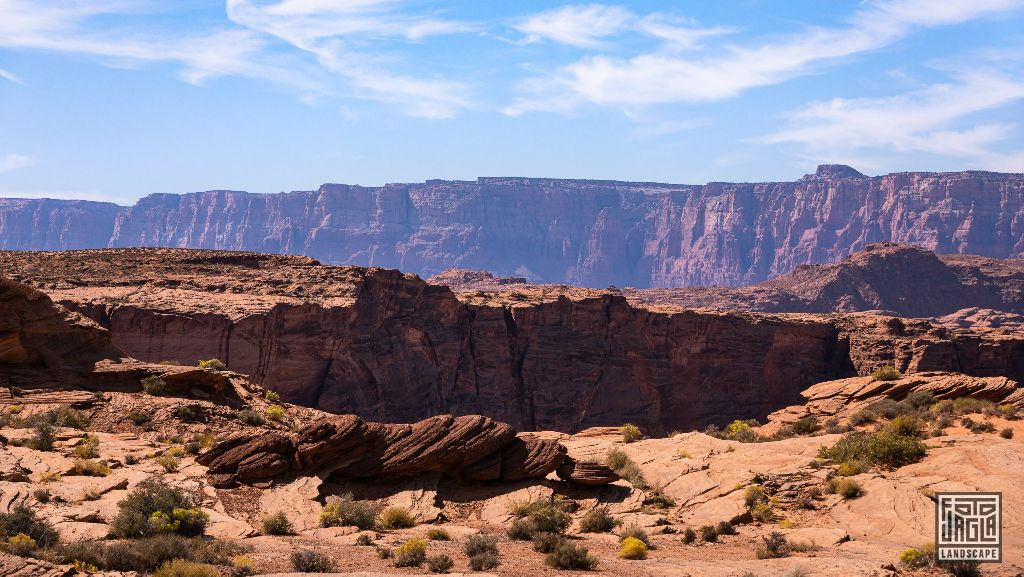View at Horseshoe Bend, Page Arizona, USA 2019