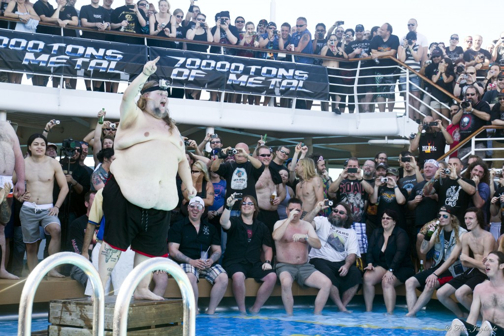 70000 Tons of Metal 2012 ::. Miami, Florida ::. Belly Flop Contest @ Pool
