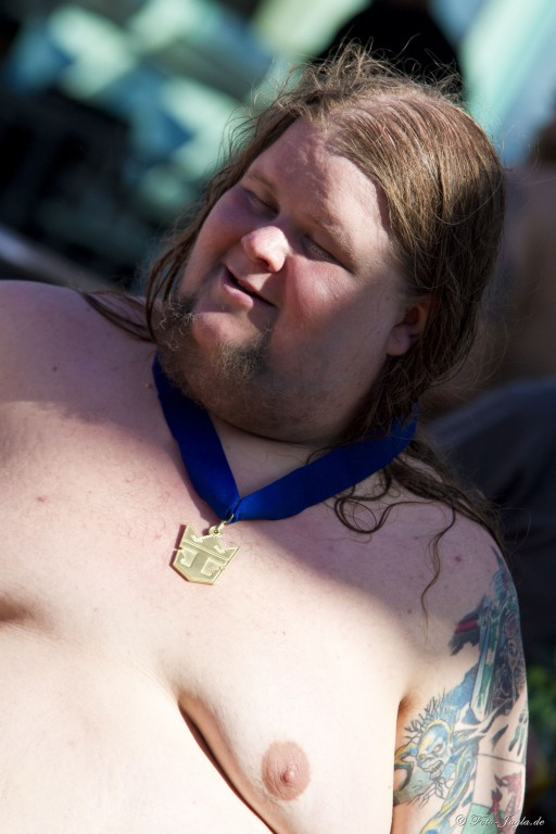 70000 Tons of Metal 2012 ::. Miami, Florida ::. Winner of belly flow contest
