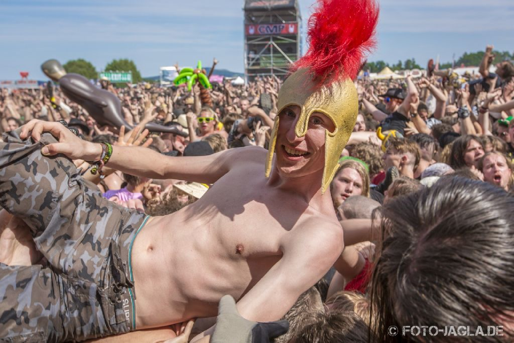 Summer Breeze 2013 ::. Crowdsurfing guy at Alestorm