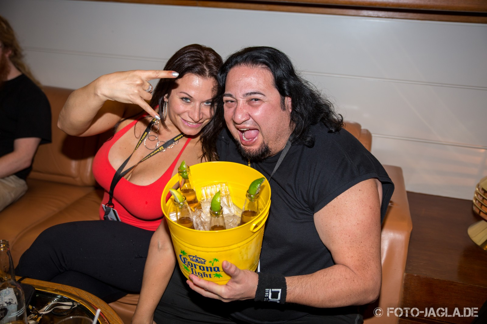 70000 Tons of Metal 2014 ::. Dino from Fear Factory has much fun