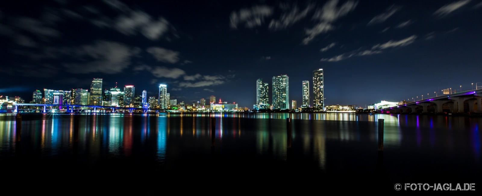 MacArthur Causeway - Miami 2013. Langzeitbelichtung / Nachtaufnahme