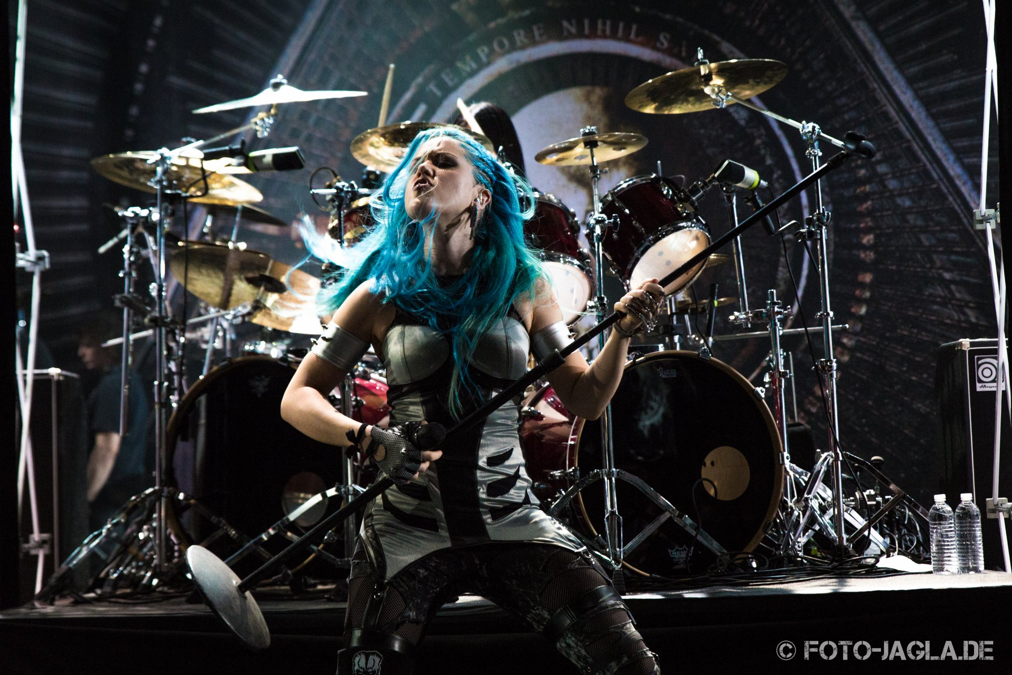 Alissa White-Gluz (Arch Enemy) auf dem 70000 Tons of Metal 2015