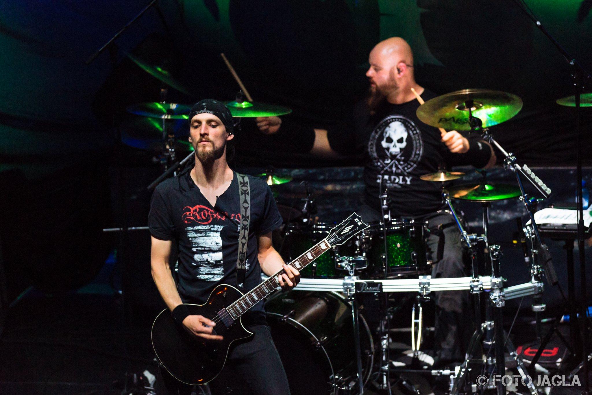 Xandria als Support-Band auf der Wolfsnächte Tour 2015 von Powerwolf am 06.09.2015 im Gebroeders De Nobel in Leiden