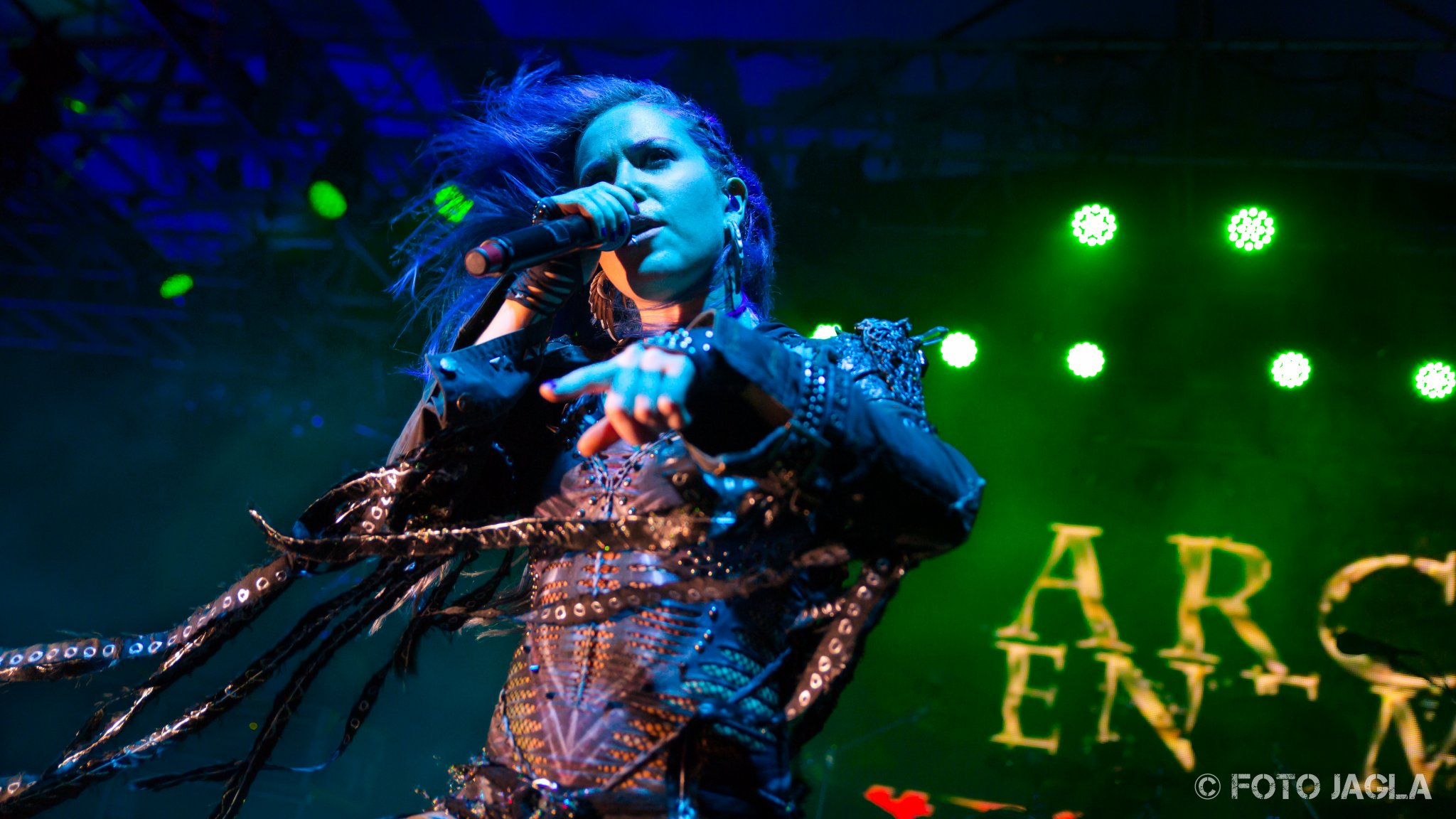 70000 Tons Of Metal 2017 Alissa White-Gluz von Arch Enemy auf der Pooldeck-Stage