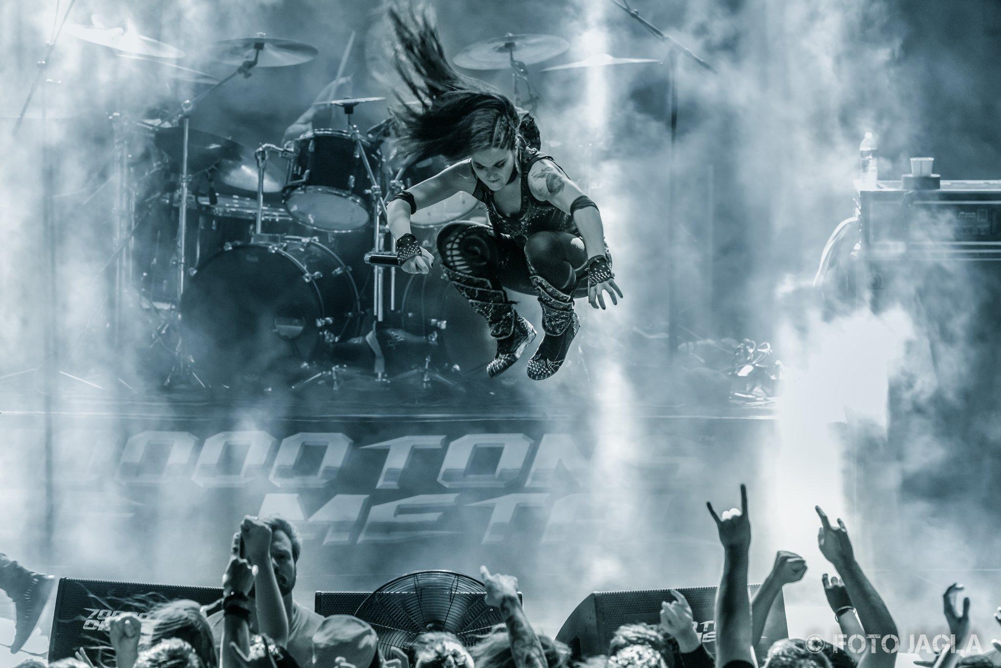 70000 Tons Of Metal 2017 Alissa White-Gluz von Arch Enemy auf der Pooldeck-Stage