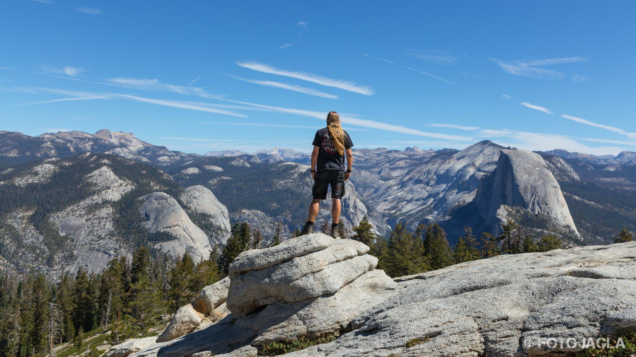 Kalifornien - September 2018 Ausblick vom Sentinel Dome Yosemite National Park - Yosemite Valley, Mariposa Country