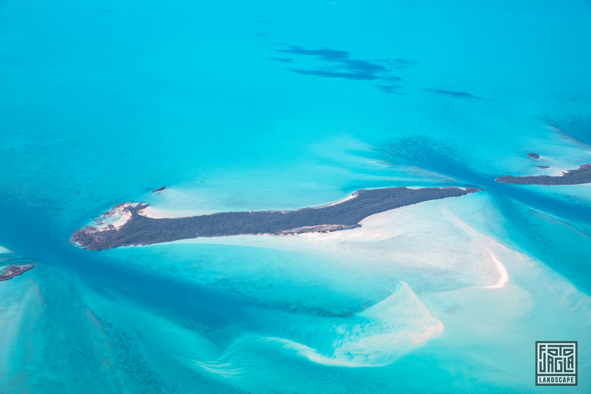Exuma, Bahamas Paradiesische Inselkette von oben
