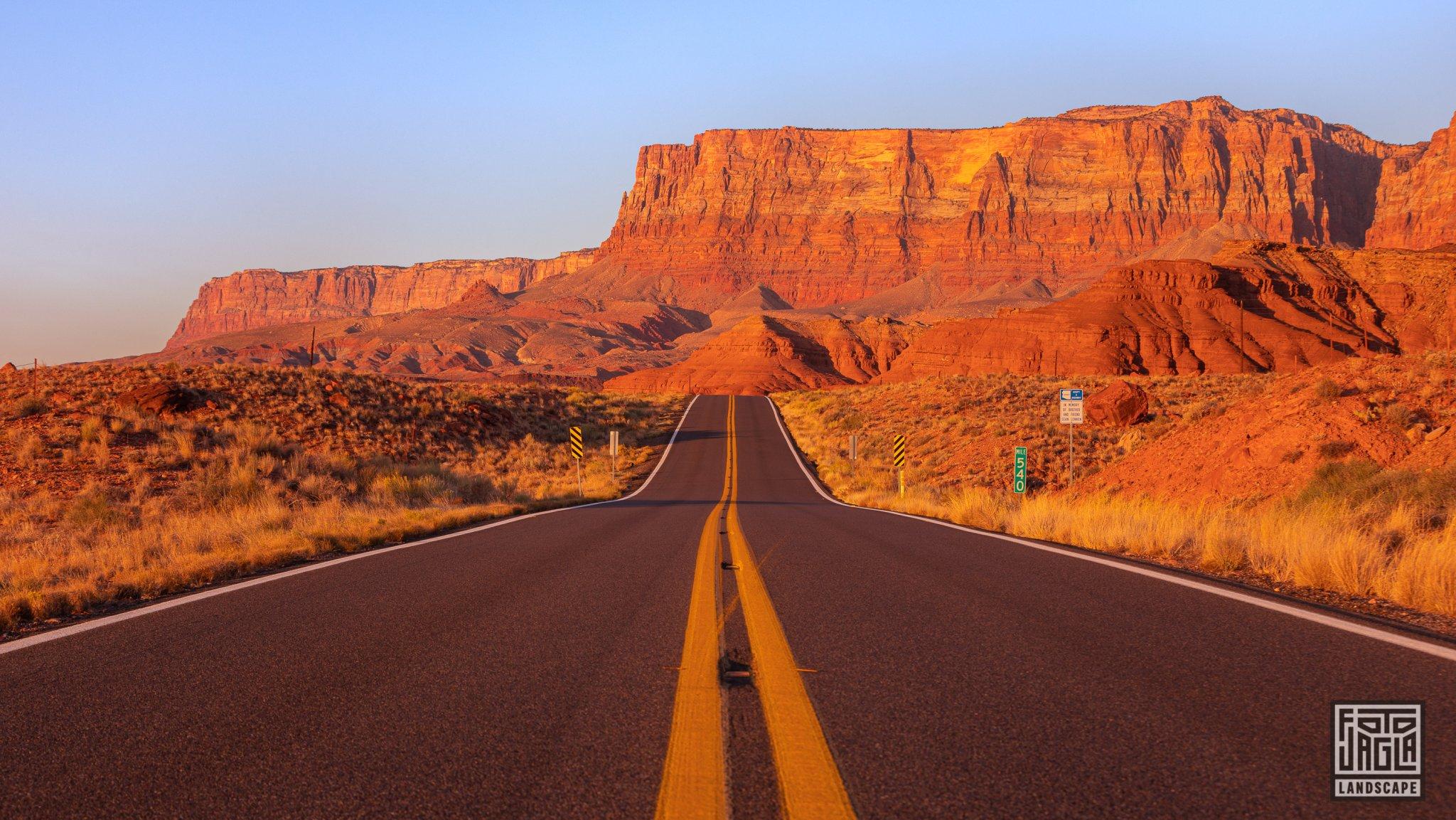 Sunrise at Marble Canyon Arizona, USA 2019