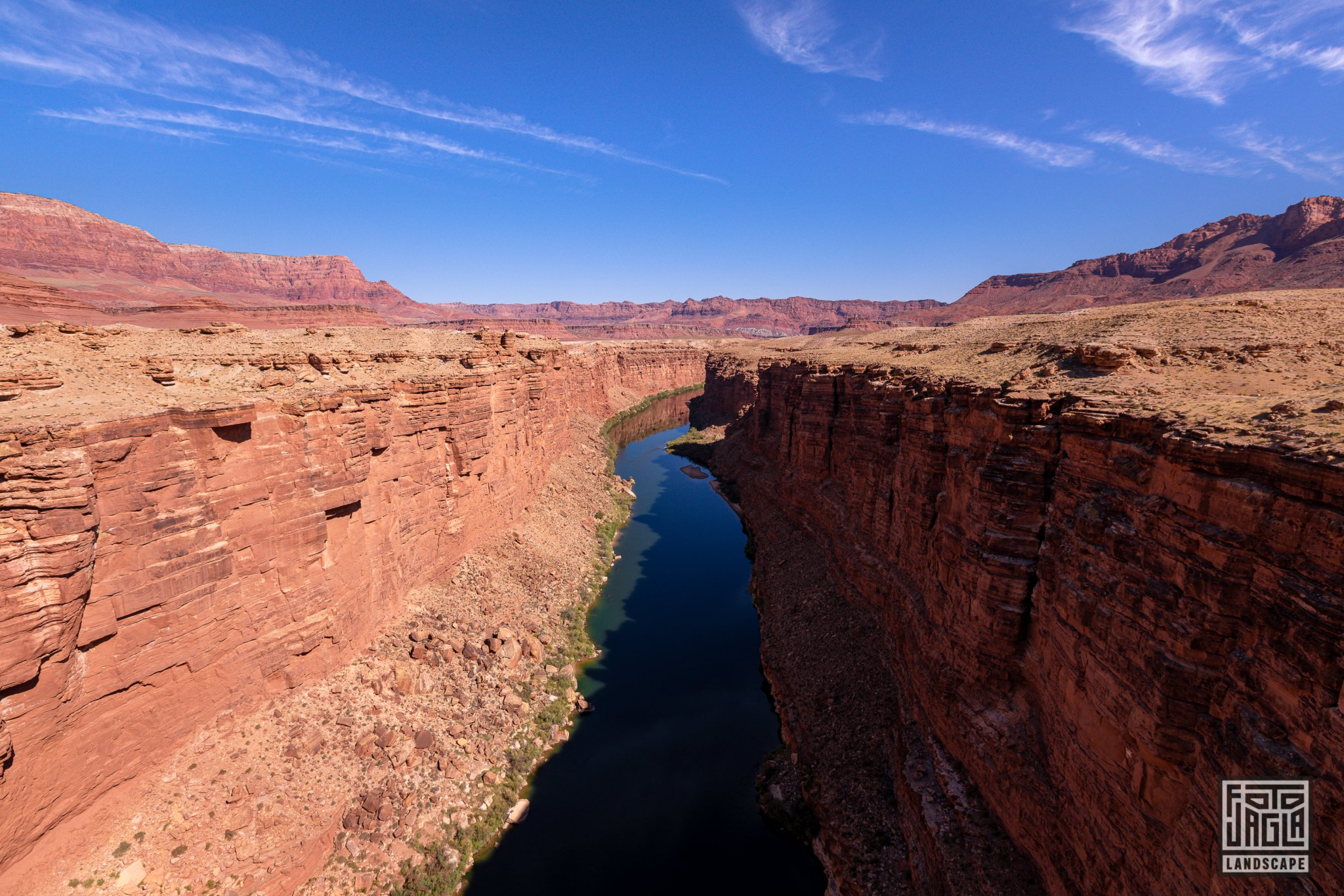 Colorado River at Navajo Bridge - Marble Canyon Arizona, USA 2019