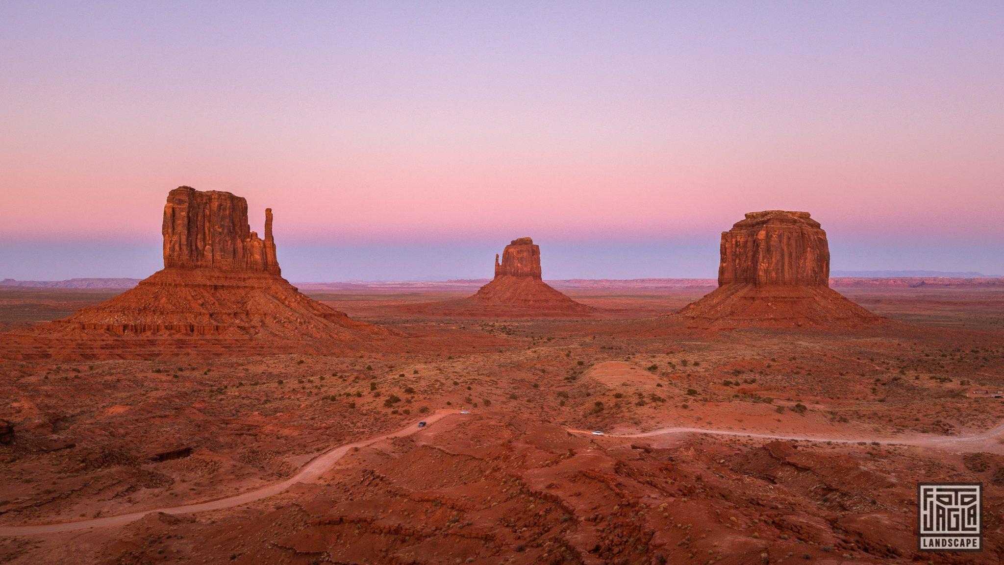 Beautiful sunset at Monument Valley Arizona, USA 2019