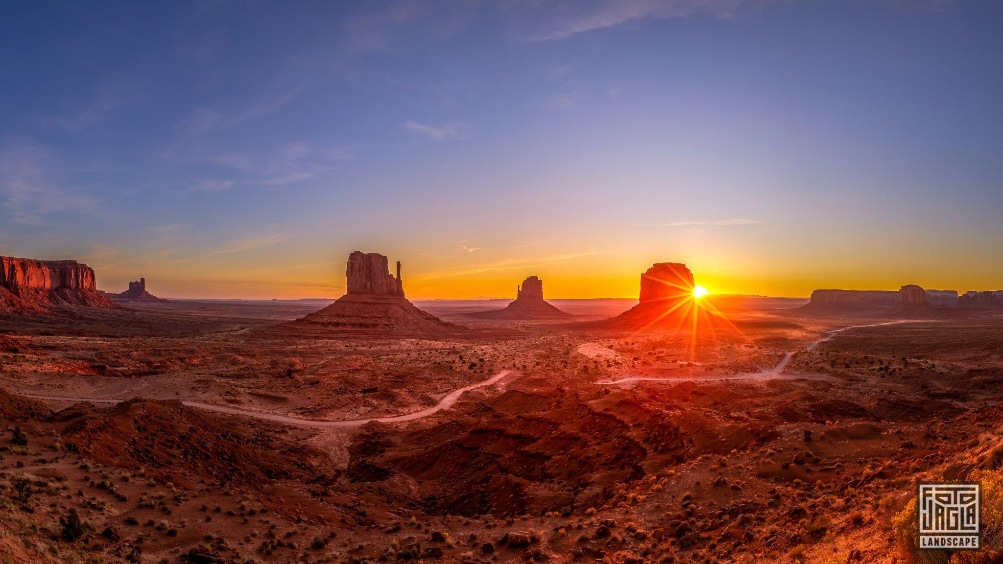 Beautiful sunrise at Monument Valley Arizona, USA 2019