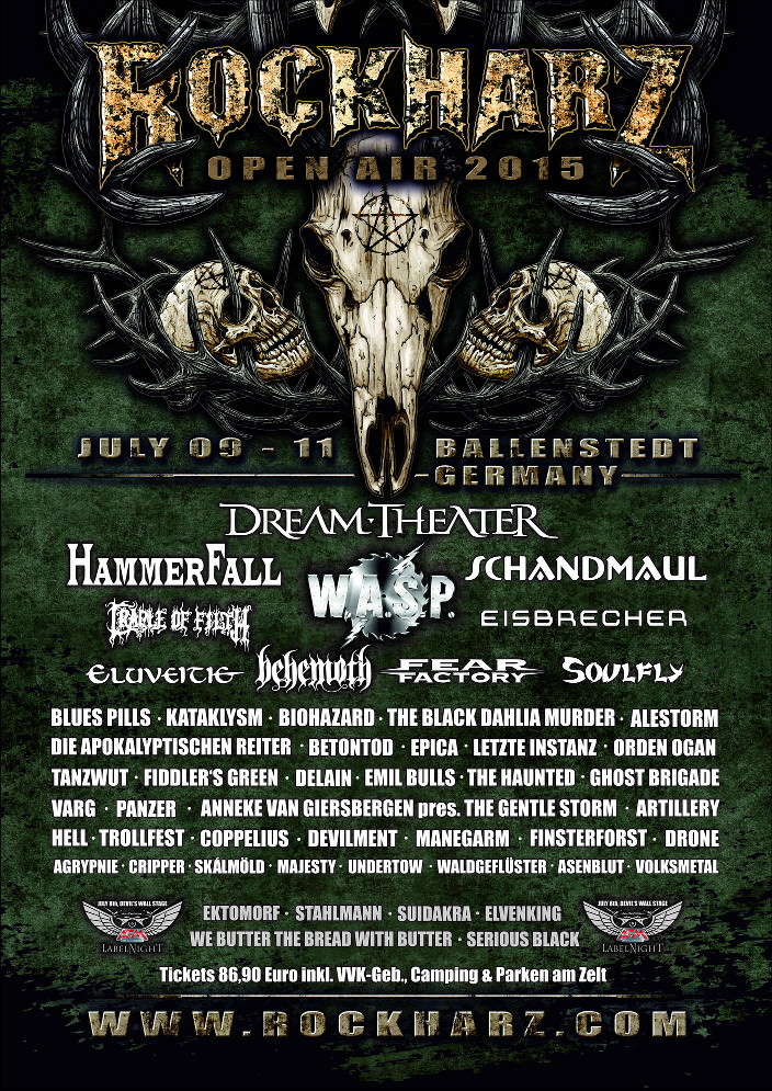 Rockharz 2015 Festival Flyer