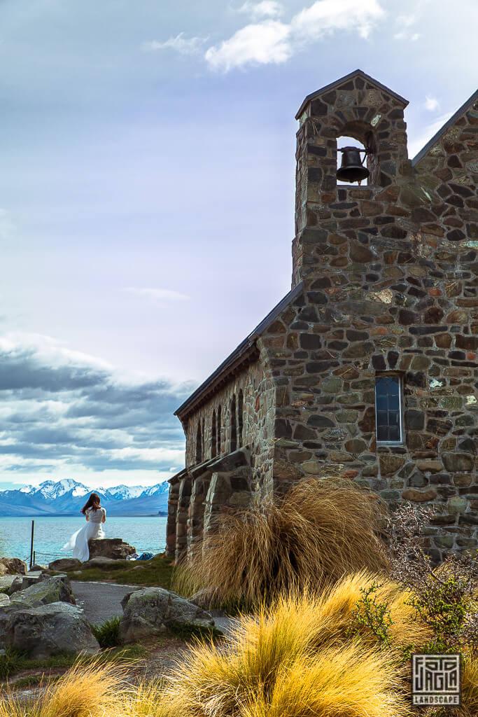 Church Of The Good Shepherd am Lake Tekapo - Die steinerne Kapelle - Die Kirche zum guten Hirten