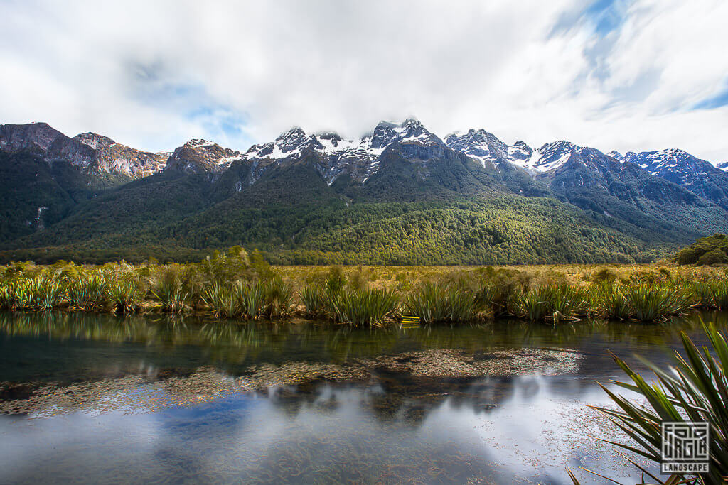 Mirrow Lakes in Neuseeland auf der State Highway 94