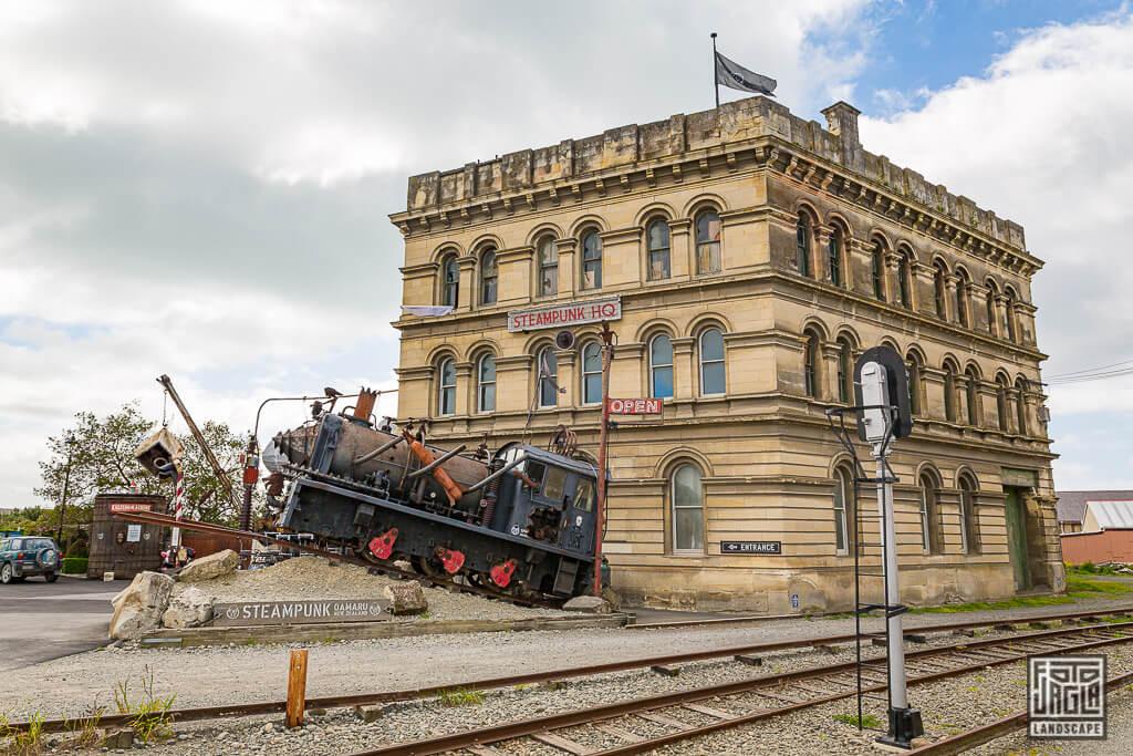 Steampunk HQ Museum in Oamaru Neuseeland - Eine postapokalyptische Welt