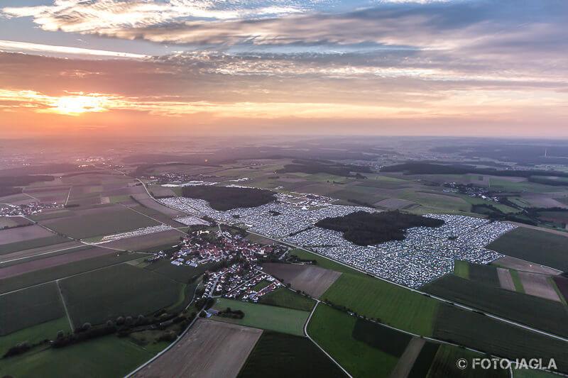 Luftaufnahme vom Summer Breeze Open Air Festival 2017 in Dinkelsbühl