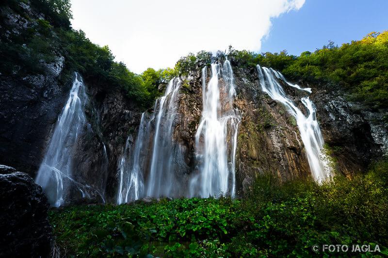 Veliki Slap Wasserfall im Naturpark Plitvicer Seen in Kroatien