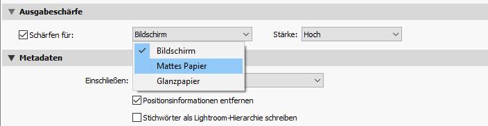 Lightroom - Beim Export nachschärfen