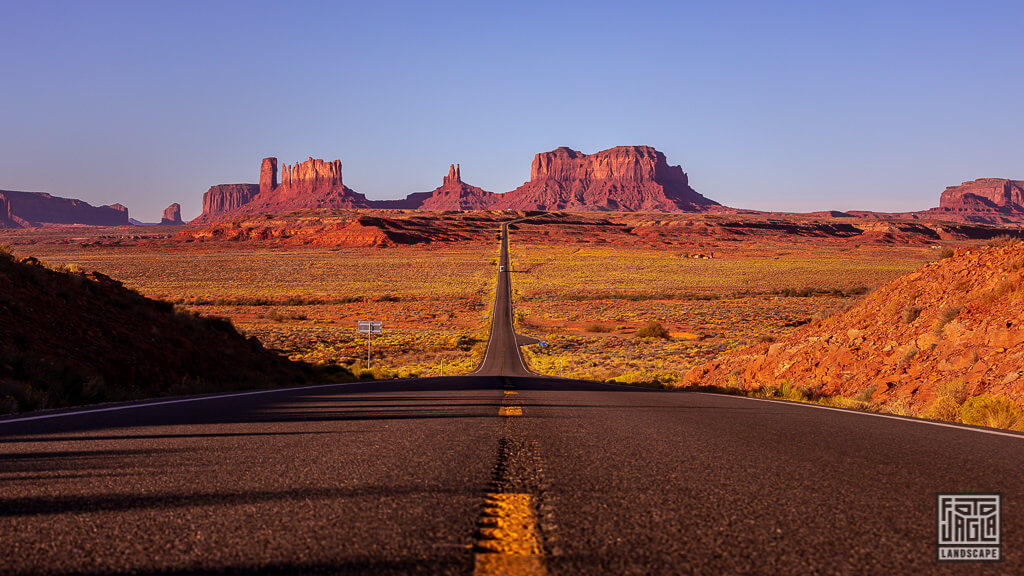 Forrest Gump Point am Monument Valley in Utah