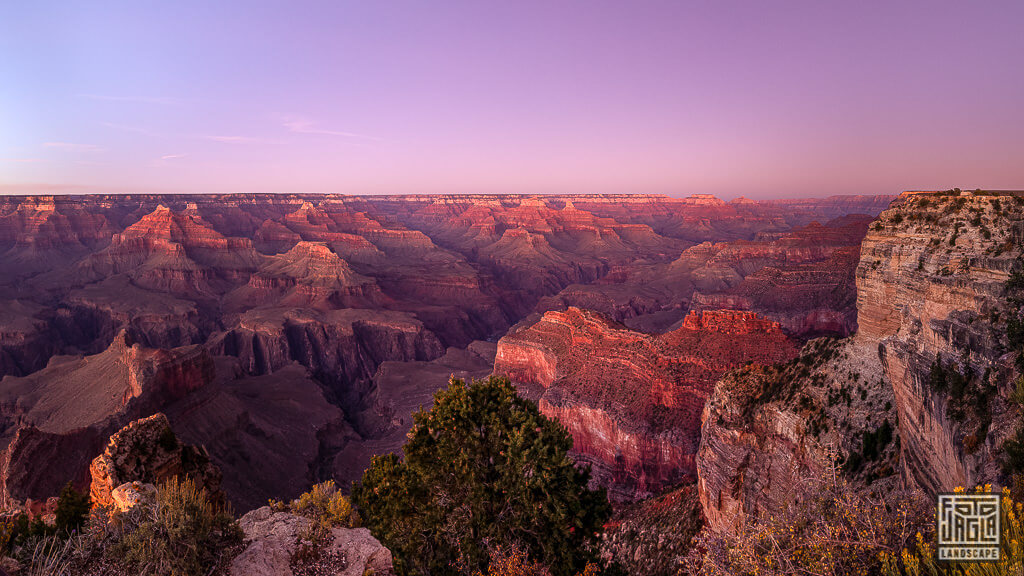 Grand Canyon Nationalpark zum Sonnenuntergang