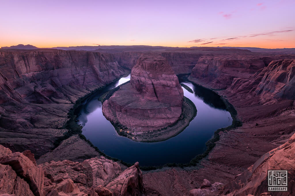 Horseshoe Bend in Page in Arizona