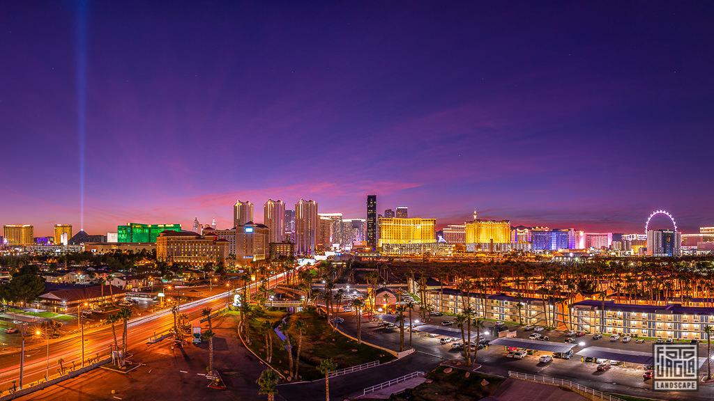 Las Vegas Strip Panorama Nachtaufnahme