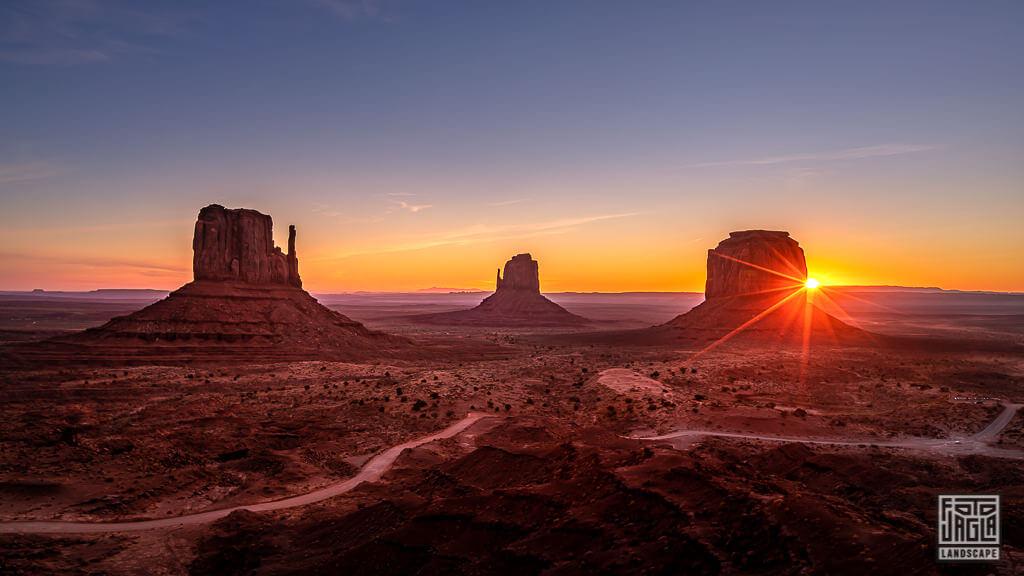 Monument Valley zum Sonnenaufgang