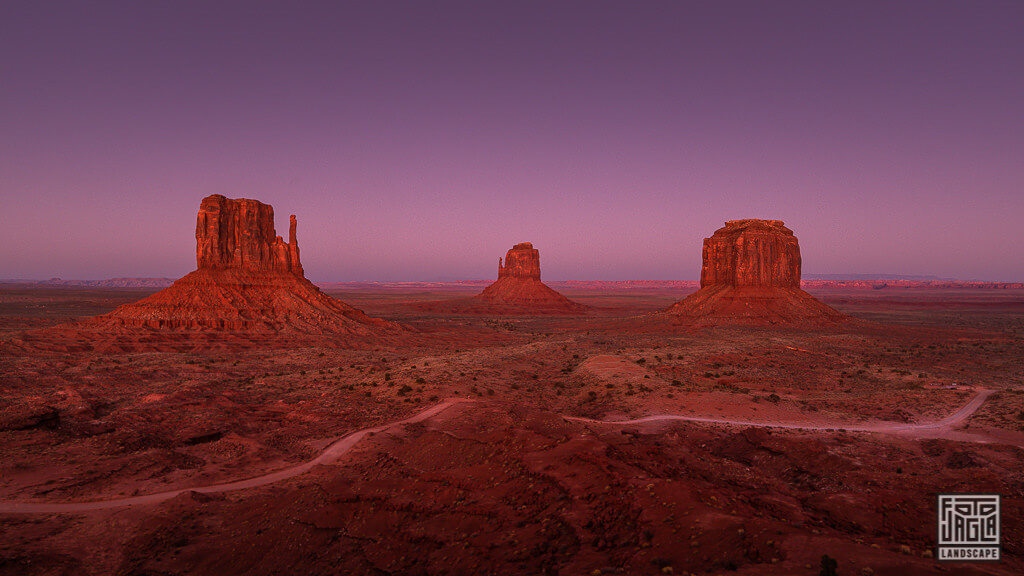 Monument Valley zum Sonnenuntergang