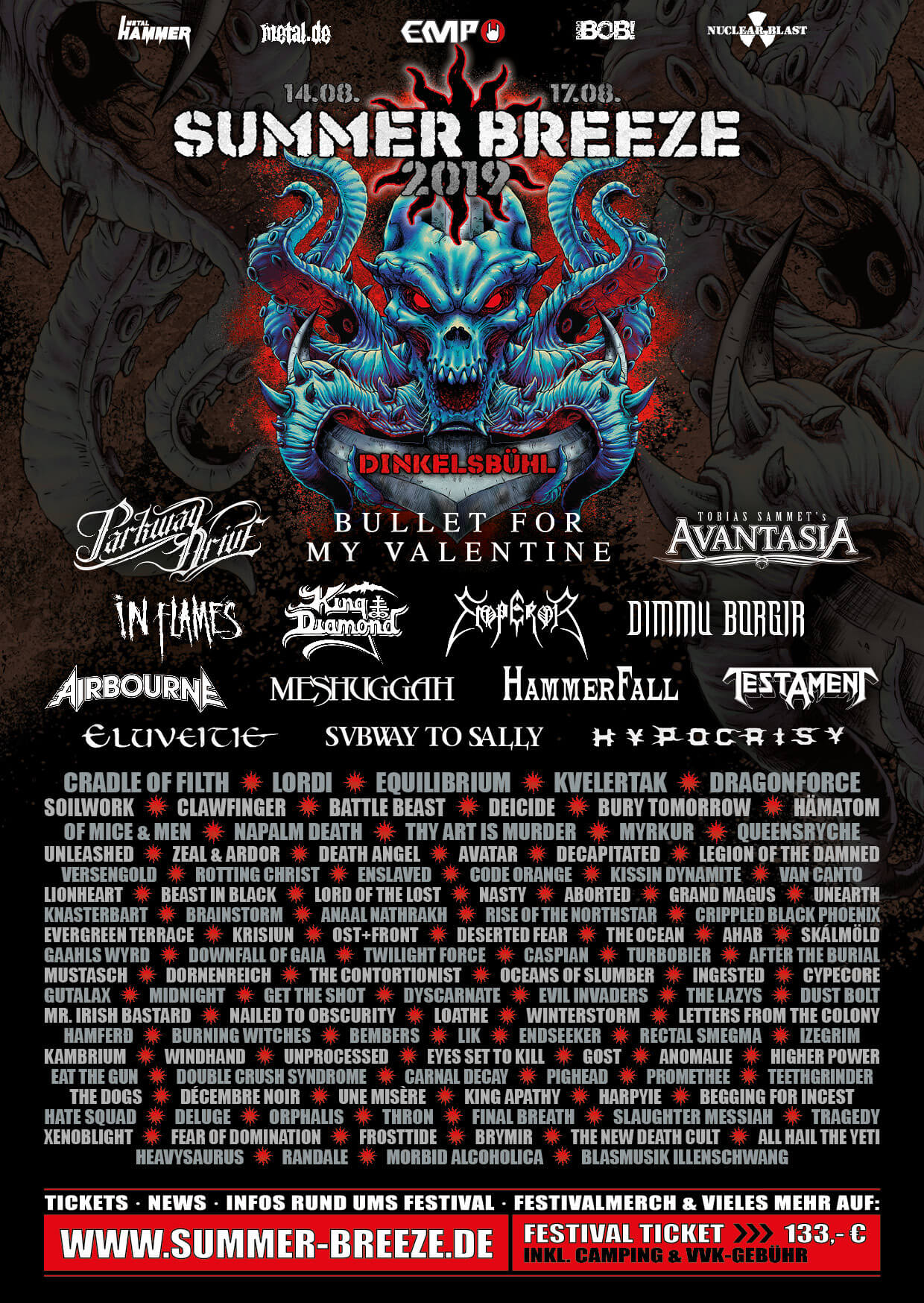 Summer Breeze Open Air 2019 Flyer