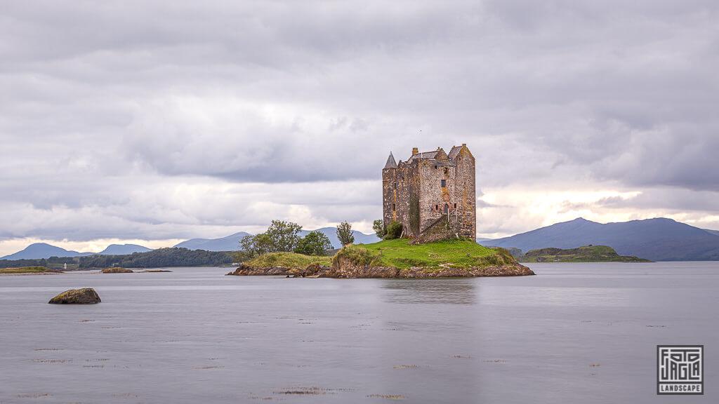 Castle Stalker Turmhaus bei Port Appin in Schottland