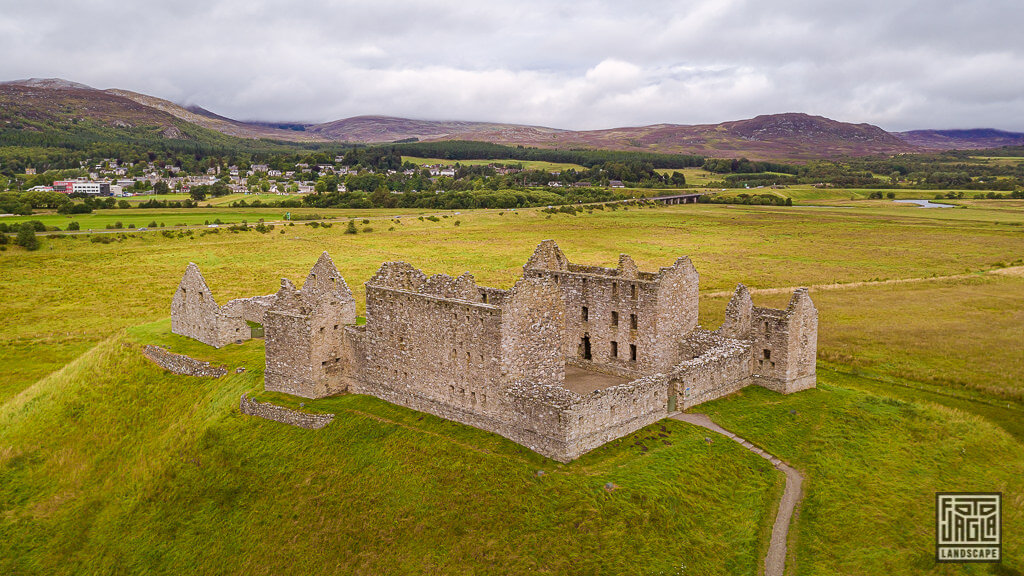 Ruthven Barracks - Ruinen einer alten Militär-Barracke in Schottland