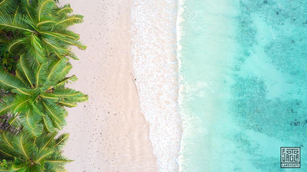 Traumhafter Paradies-Strand auf Mahé, Seychellen